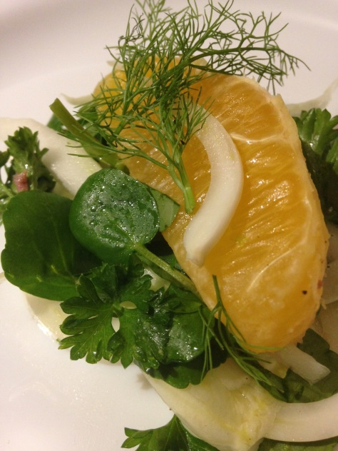 Fennel, watercress & orange salad