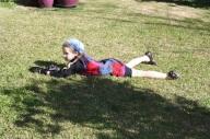 Child on lawn