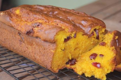 Gluten Free Pumpkin Bread  on a rack