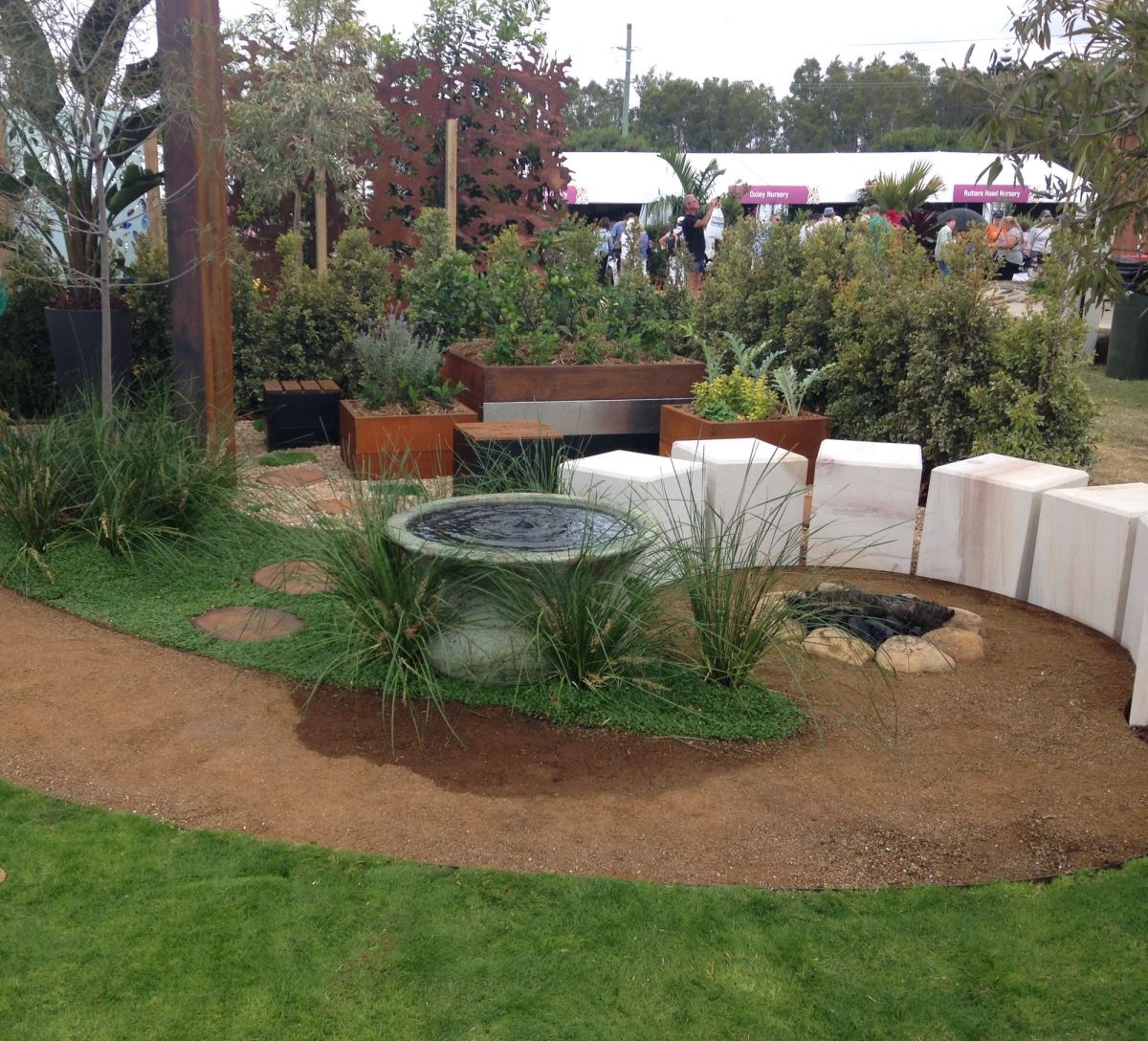 Brisbane international garden show claire bickle for Landscape gardeners brisbane
